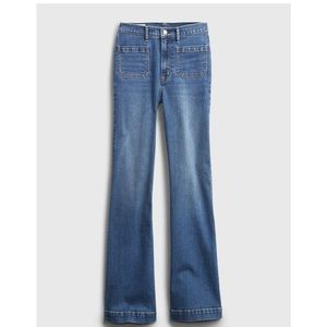 NWT Gap High Rise Patch Pocket Flare Jeans Sz 20